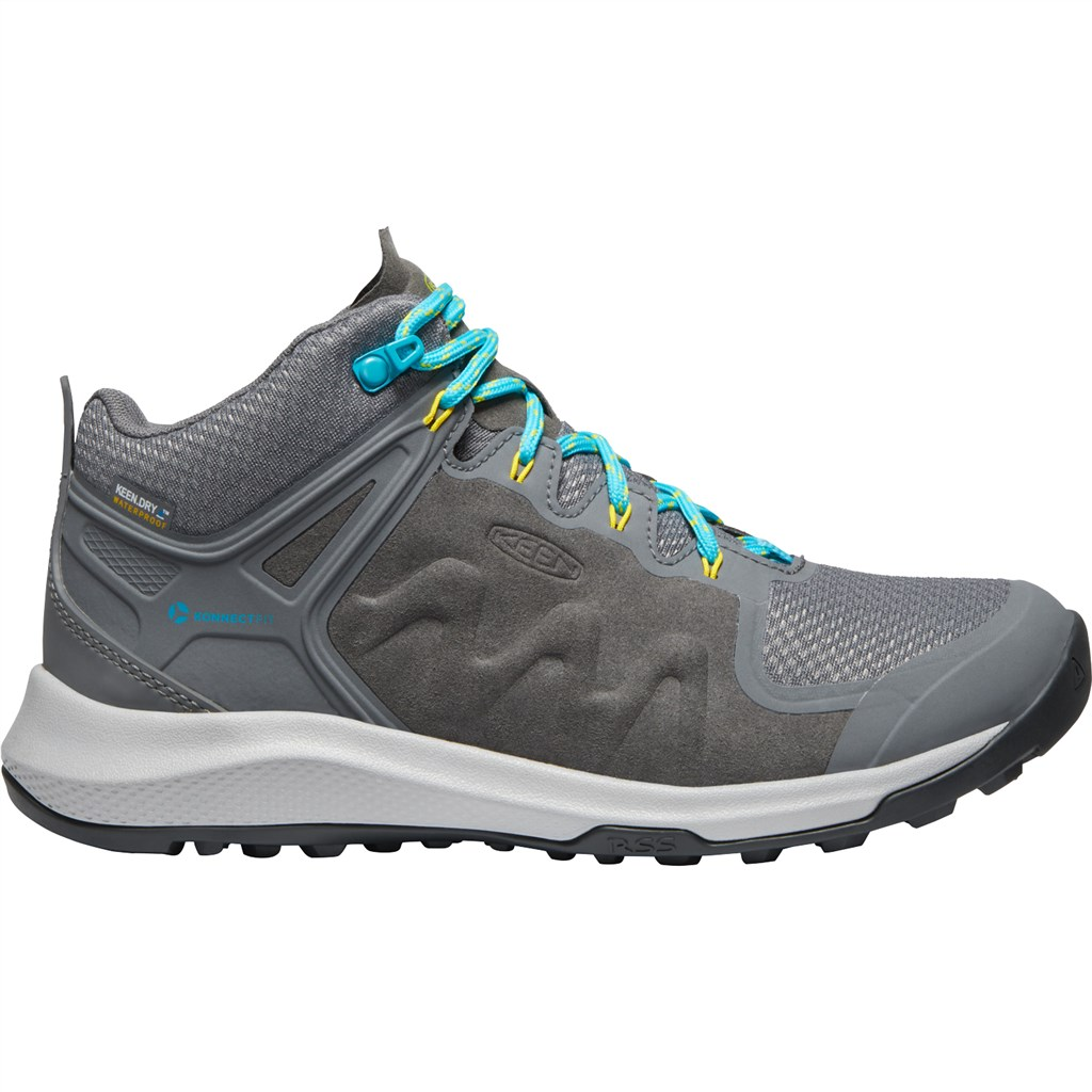 KEEN - W Explore Mid WP - steel grey/bright turquoise