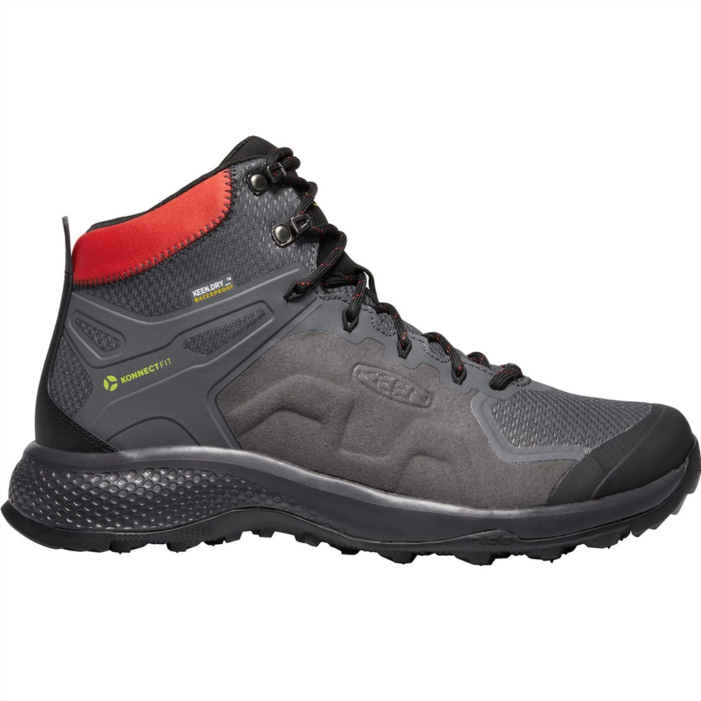 KEEN - M Explore Mid WP - magnet/bright red