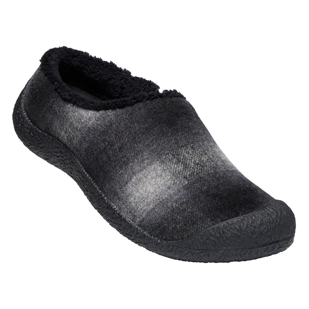KEEN - W Howser Slide - black plaid/dark grey