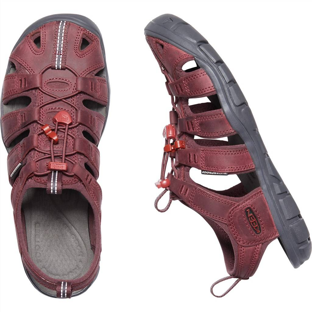 KEEN - W Clearwater CNX Leather - wine/red dahlia
