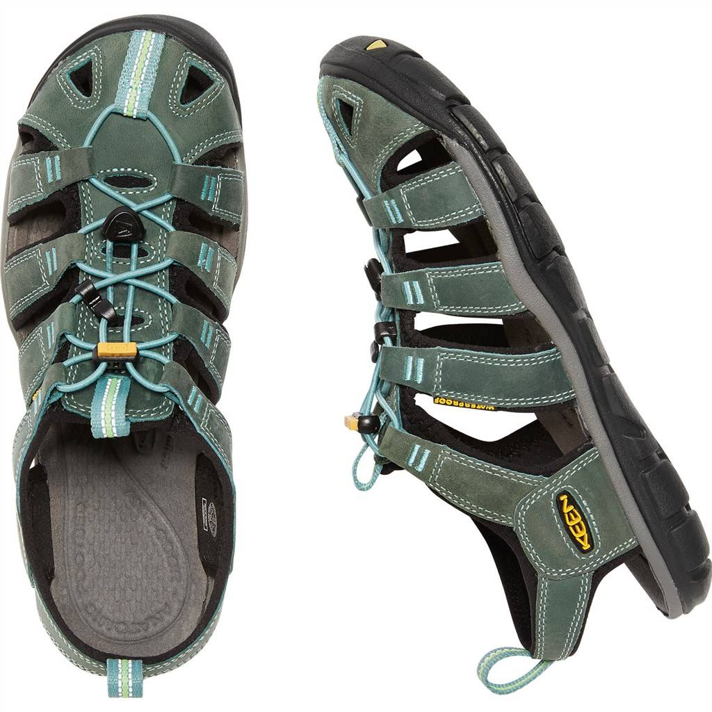 KEEN - W Clearwater CNX Leather - mineral blue/yellow