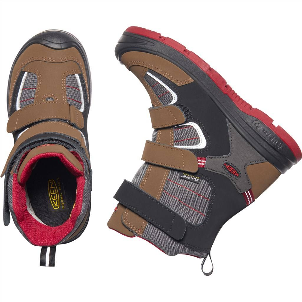 KEEN - Y Redwood Winter WP - bison/red dahlia
