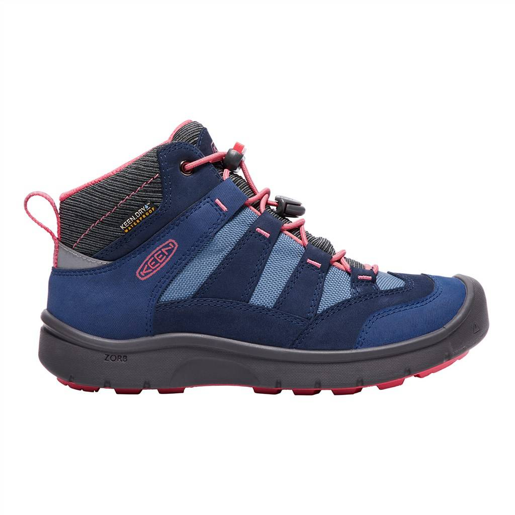 KEEN - Y Hikeport Mid WP - dress blues/sugar cora