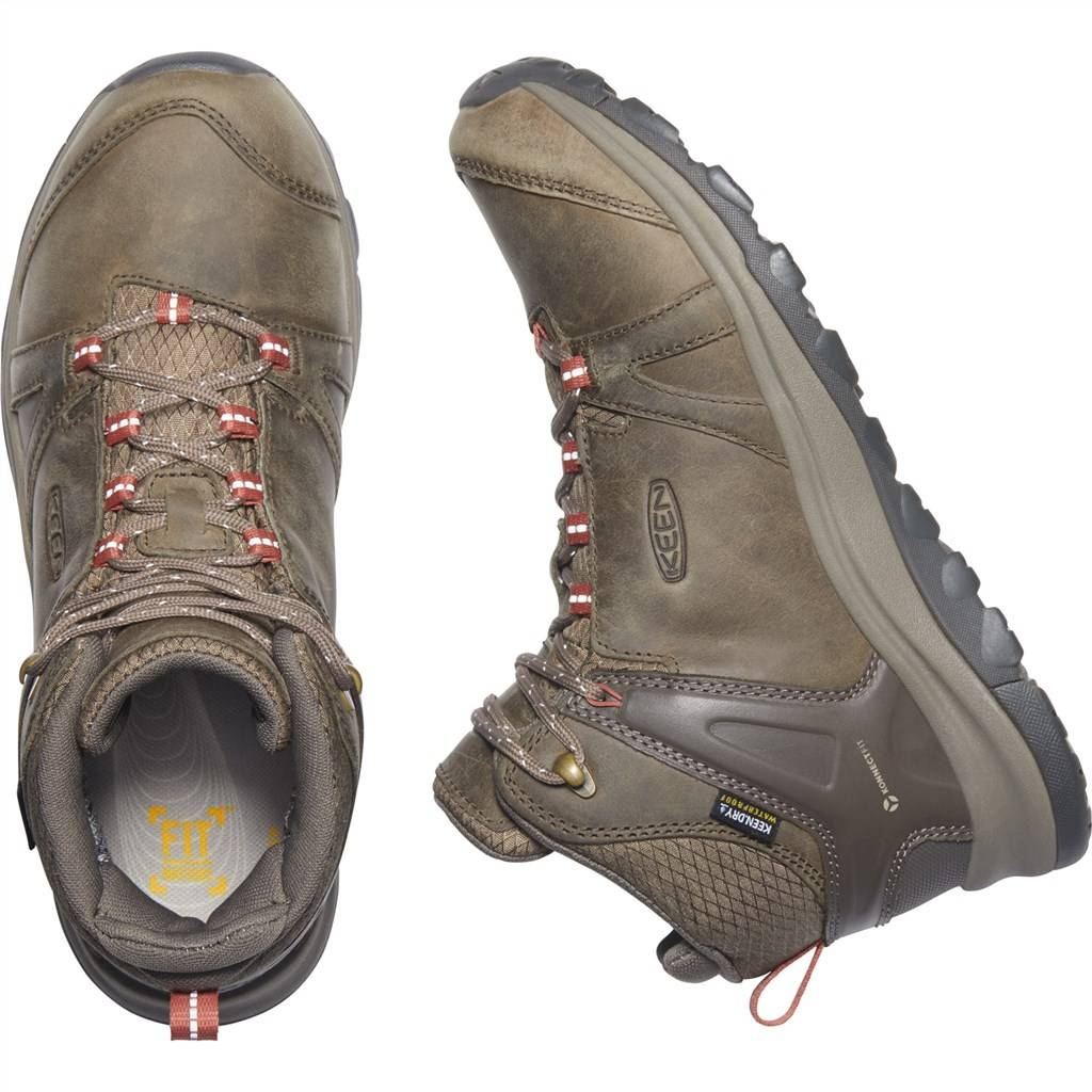 KEEN - W Terradora II Leather Mid WP - brindle/redwood