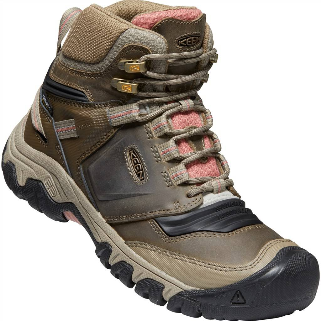 KEEN - W Ridge Flex Mid WP - timberwolf/brick dust