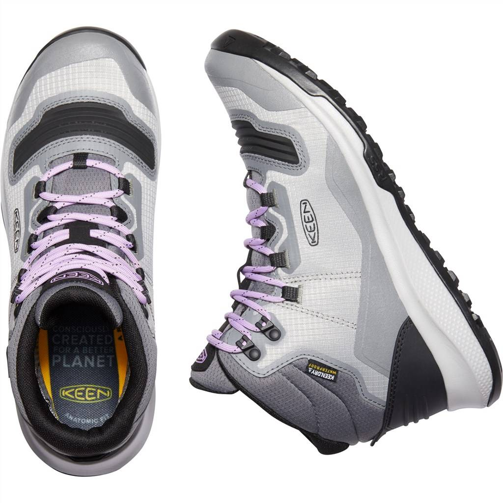 KEEN - W Tempo Flex Mid WP - steel grey/african violet
