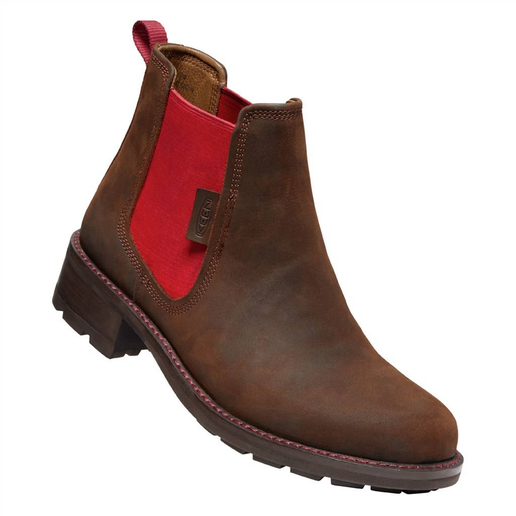 KEEN - W Oregon City Chelsea - snuff/tibetan red