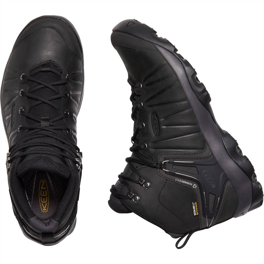 KEEN - M Venture Mid Leather WP - black/magnet