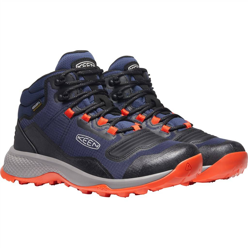KEEN - M Tempo Flex Mid WP - black iris/orange
