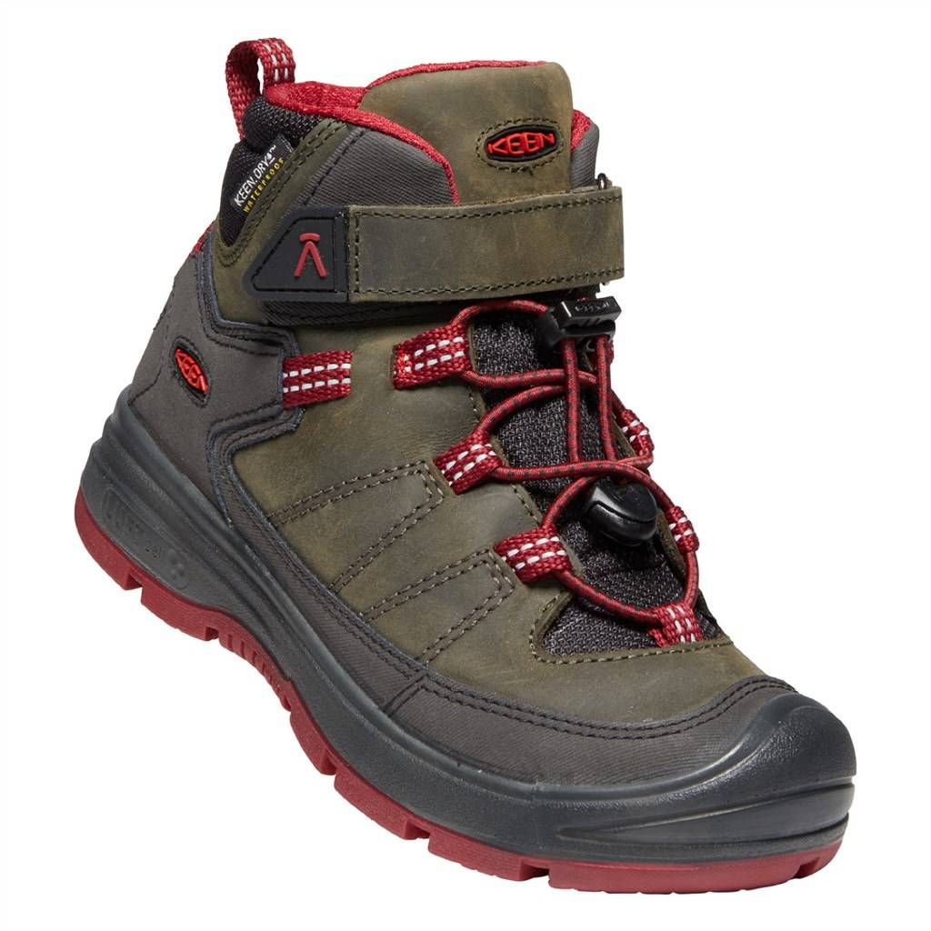 KEEN - C Redwood Mid WP - steel grey/red dahlia