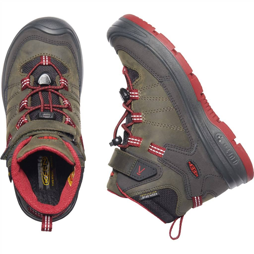 KEEN - Y Redwood Mid WP - steel grey/red dahlia