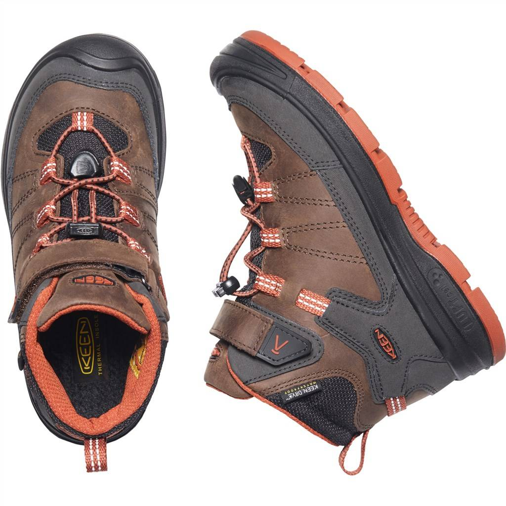KEEN - Y Redwood Mid WP - coffee bean/picante