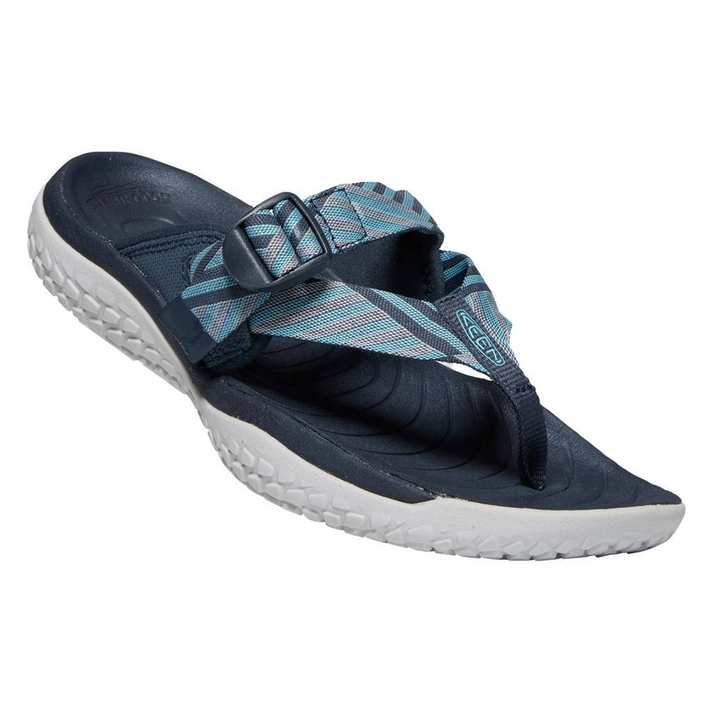 KEEN - W Solr Toe Post - navy/blue mist