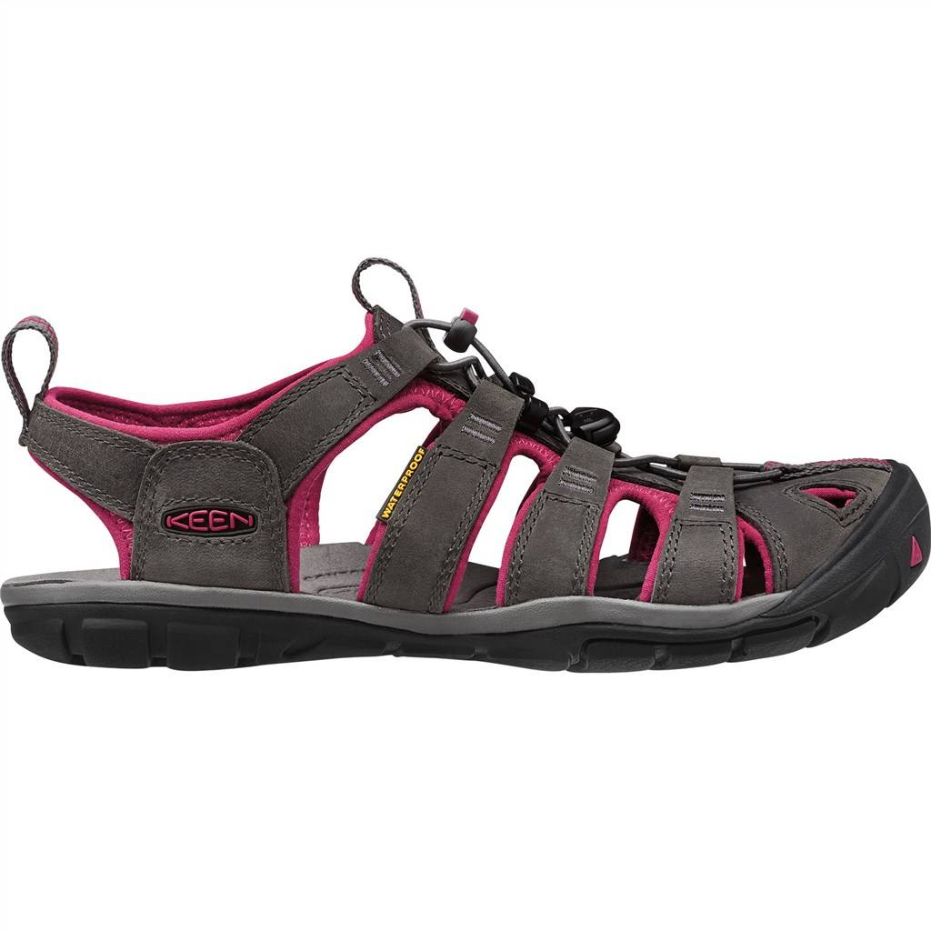 KEEN - W Clearwater CNX Leather - magnet/sangria