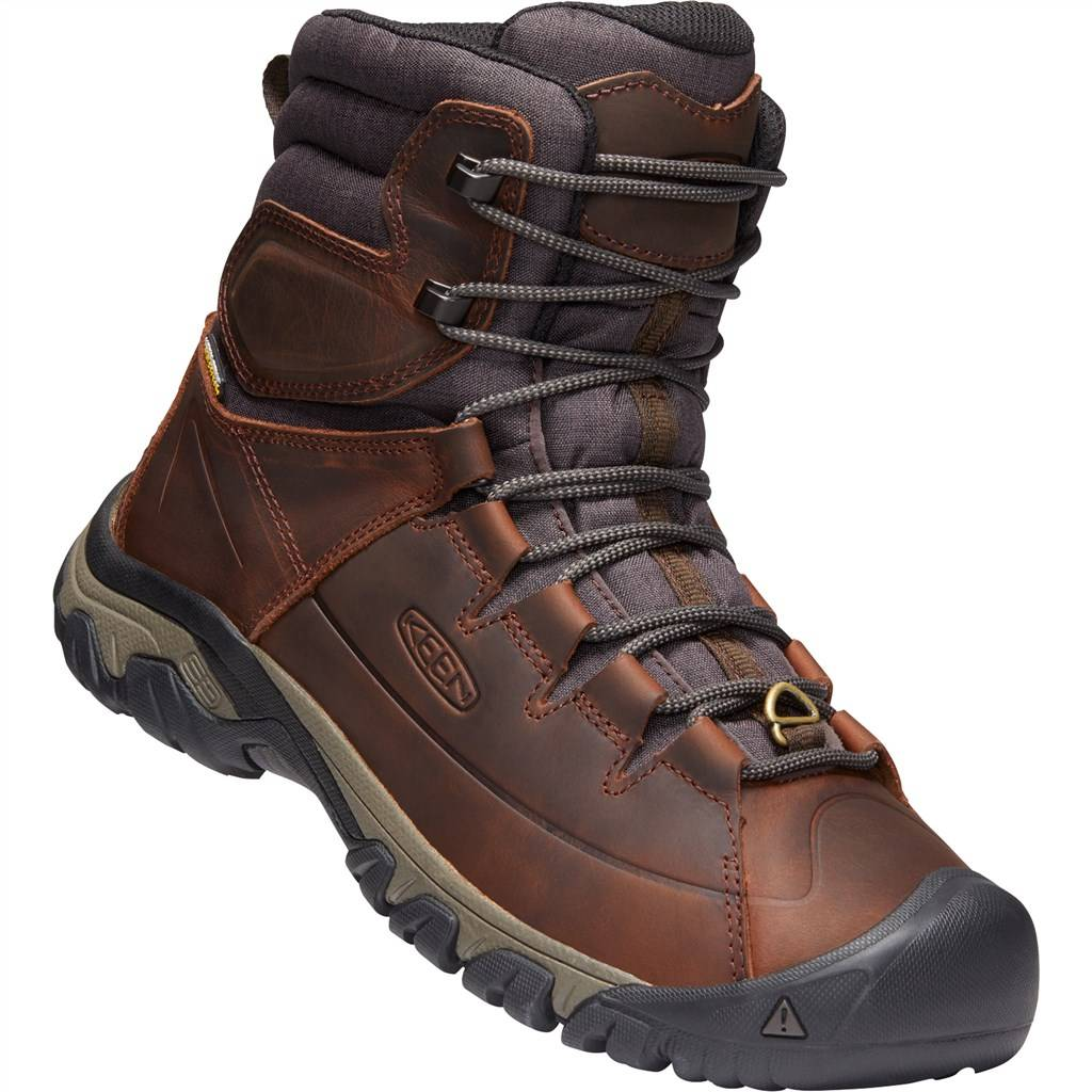 KEEN - M Targhee Lace Boot High - cocoa/mulch